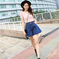 Summer High Waist Denim Shorts Women 2017 Loose Casual Jeans Shorts Fashion Vintage Women Shorts Sexy