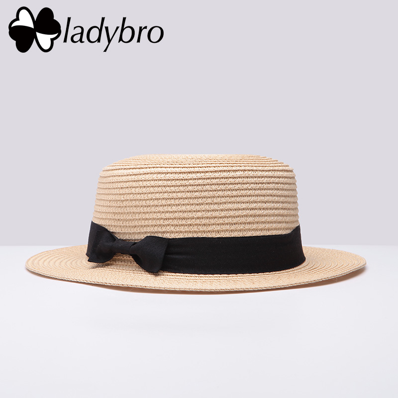 Ladybro 3pcs Sommar Kvinnor Hatt Kvinnlig Solhatt Boater Strand - Kläder tillbehör - Foto 4
