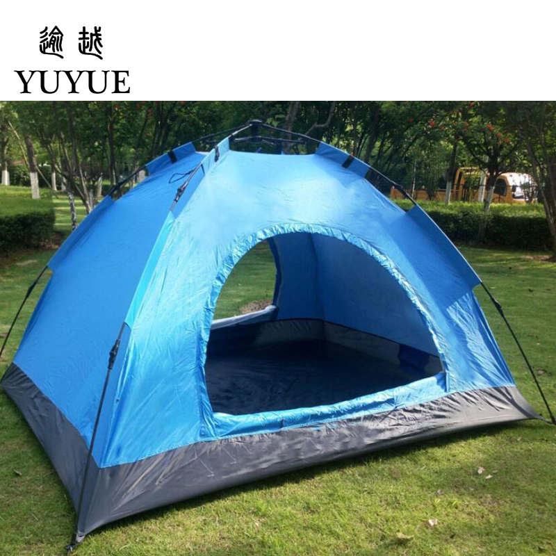3-4 person cheap tent camping for cleary day hiking outdoor camping tente camping randonnee automatic tent  for family outings 5