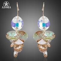 Unique Design 18K Real Gold Plated SWA ELEMENTS Austrian Crystal Water Drop Drop Earrings FREE SHIPPING