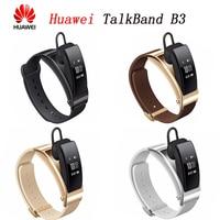 Original Huawei Talkband B3 Bluetooth Smart Bracelet headset Answer/End Call Run Walk Sleep Auto Track Alarm Message