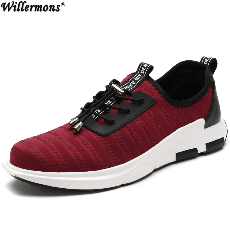 Men's Summer Breathable Mesh Fashion Loafers Shoes Men Slip on Cozy Casual Flats Shoes Red Zapatos Masculino nis breathable mesh flat men shoes casual summer slip on shoes men patchwork stitching loafers sewing soft sole pu leather flats