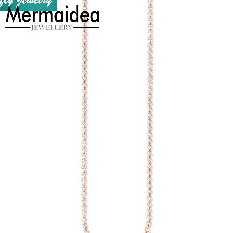 Rose Gold Color Link Chain Necklaces Brand Long Necklaces Women Trendy Style Fashion Jewelry Birthday Gift DIY Collier