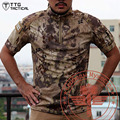 Outdoor Men Army Camouflage Quick Drying Polo T-Shirt Breathable Military Tactical T-Shirt Assault Combat CS Camping Polo Shirt