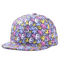 Snapback Gorras Hat Cute Kitty Bon Flat Brimmed Baseball Cap 3D Print Adjustable Hip hop Trucker Bone Caps YJC-F135