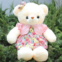 CXZYKING 50CM Plush Toys Teddy Bear Wears Bow Tie Flower For Wedding Bear Gift Animal Plush