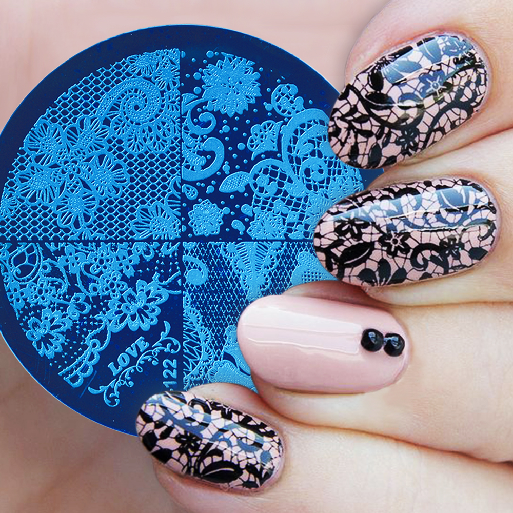 Round Nail Stamping Plate
