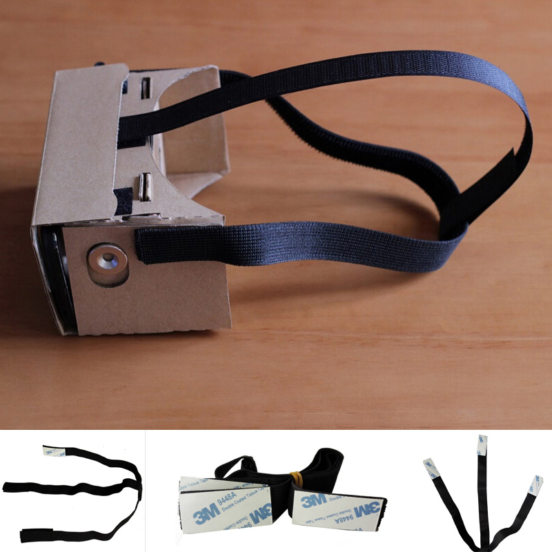 Comfortable Black Elastic Head Band for <font><b>DIY</b></font> 3D <font><b>Glasses</b></font> Head <font><b>Headband</b></font> Replacement <font><b>VR</b></font> Headset Accessory Portable Head Band