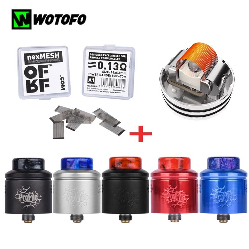 Atomiseur de réservoir d'origine Wotofo profil RDA 24mm avec 10 pièces bobine de maille OFRF nexMESH 0.13ohm vape réservoir de Vape de cigarette électronique reconstructible-in Atomiseurs de cigarette électronique from Electronique    1