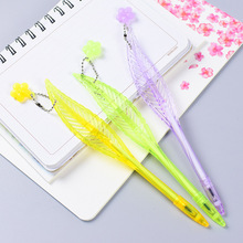36pcs/lot Direct Cartoon Creative Plastic Feather Shape Gel Pen Office Personality Stationery Ornaments