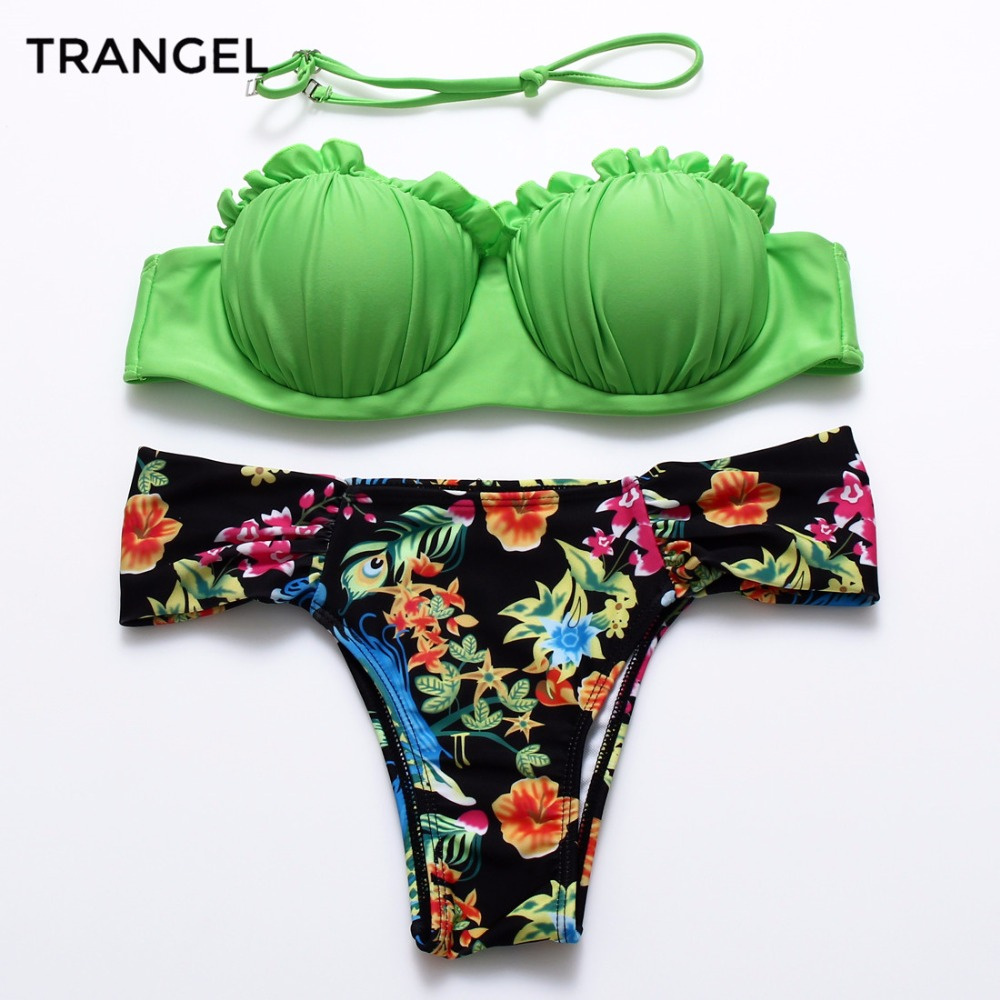 2015 Push Up Swimwear New sexy Beach Ladies Printed swimsuits For women swimwear bathing suit bikini