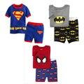 Details about Kids Batman Spider Supper Hero Sleepwear Cotton PJ Pyjama Set 1-7 Y Nightwear
