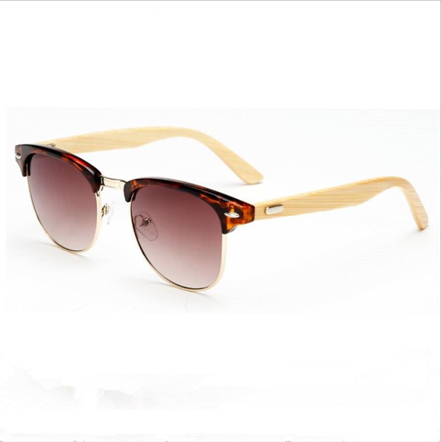 ჱNueva moda unisex hecho a mano de bambú pierna de Gafas de sol ...