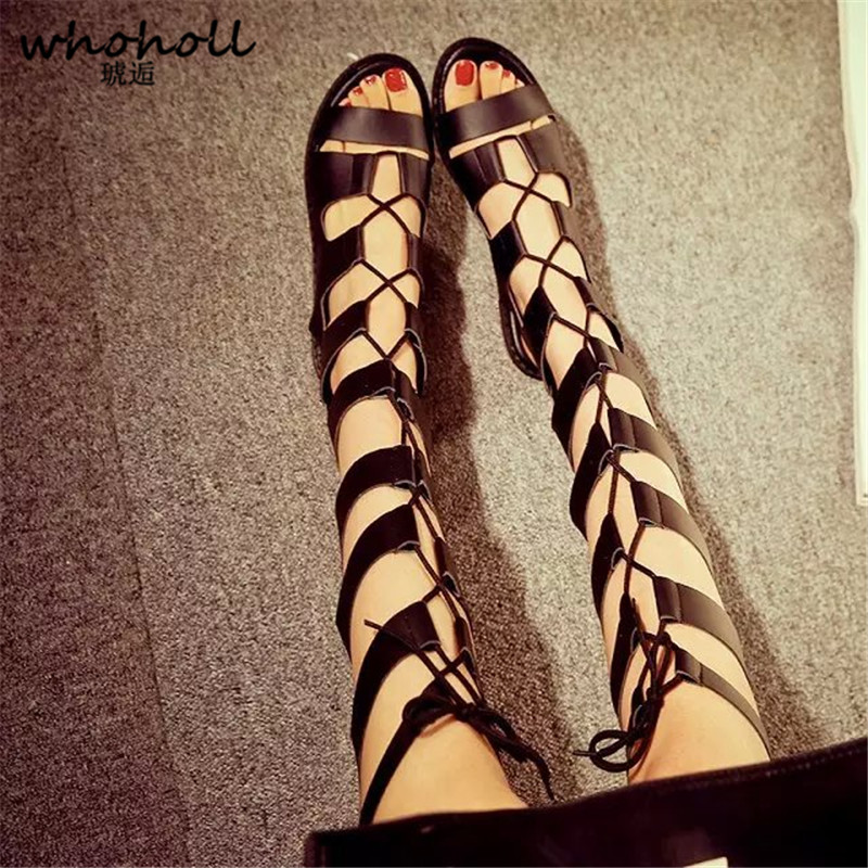 Lace Up Gladiator Sandals Women Flatform Women Sandal Cut Out Shoes Woman Summer Boots Sandals Women Flat Sandals Plus Size