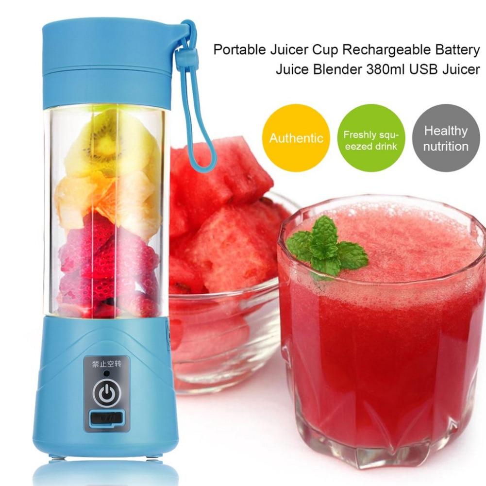 380 Ml recargable USB exprimidor botella de la licuadora jugo de cítricos licuadora fruta batido exprimidores batido de mezcla