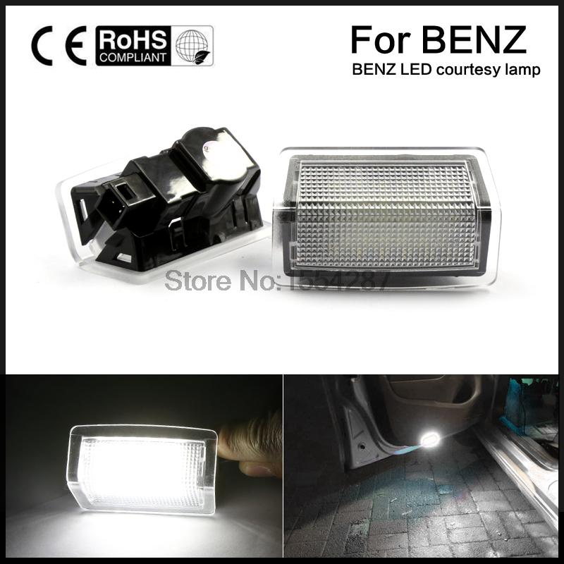2x LED Door Courtesy Light Projector For Mercedes-Benz W176 W246 W204 W212 W166 white color