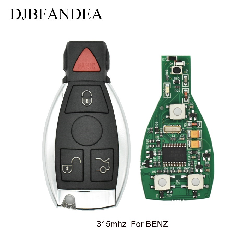 где купить DJBFANDEA 3+1Buttons 315Mhz Complete Remote Key For Mercedes-Benz W169 W245 W203 W208 W209 W204 W210 W211 2000-2010 IYZ3312 по лучшей цене