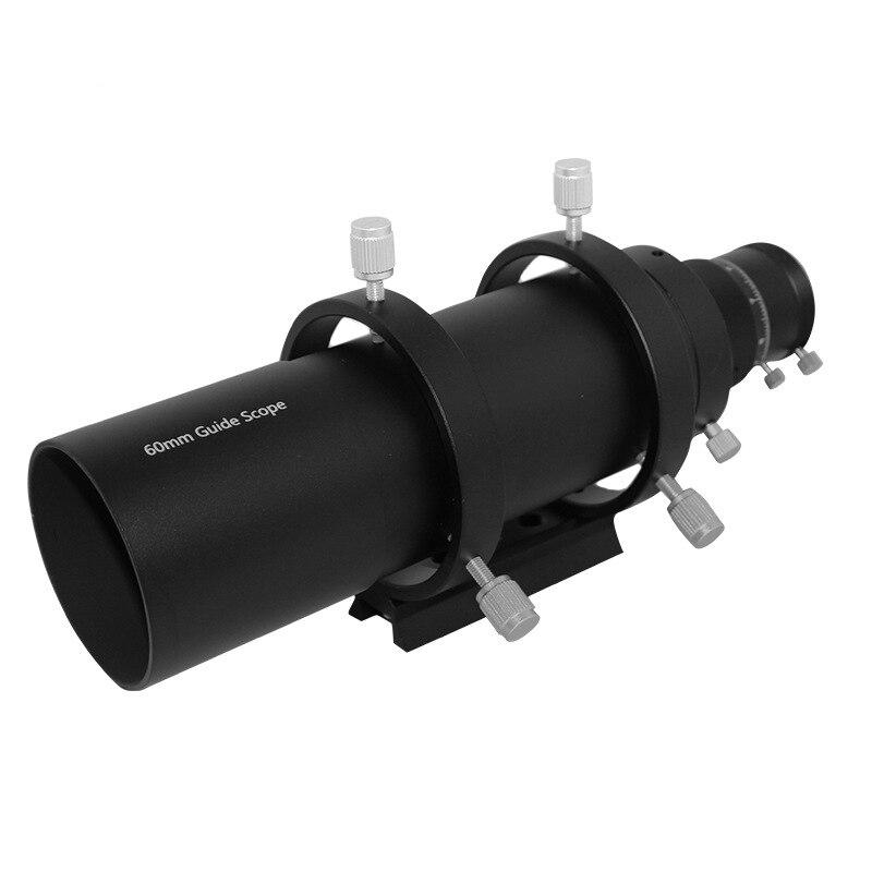Новый 60 мм автогид для телескопа компактный цельнометаллический 6-точка винт кронштейна двойной винтовой фокусер искатели для астрономиче...