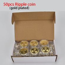 50PCS/lot Cryptocurrency Ripple coin XRP Metal For Collection