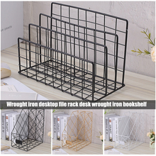 Buy Nordic Book File Stand Iron Desktop Multi-layer Magazine Rack Cosmetic Storage Rack HYD88 directly from merchant!