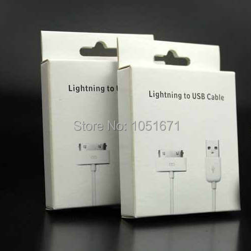 Online Shop High Grade Paper Cable Box Packing USB For Apple Iphone 4 Packaging 500pcs Lot Dhl Free Shipping