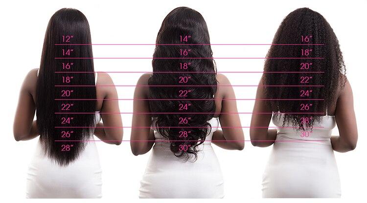 Cabelo liso feixes de extensão do cabelo