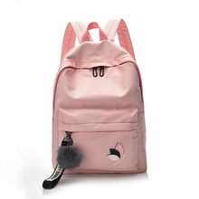 цена на 2018 new Women Waterproof Nylon Backpacks Female Rucksack School Backpack For Girls Fashion Travel Bag Bolsas Mochilas Sac A Dos