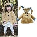 2016 Nuevo abrigo de invierno honey bunny en rosa diseño de la primavera otoño capa de la muchacha niños niños chaqueta de abrigo ropa de bebé niña outwear
