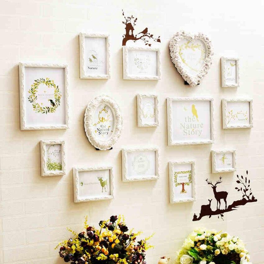 Nouveauté européenne blanc amour coeur cadre Photo cadeau créatif bricolage tenture murale pour mariage cadres Photo et décor d'art à la maison