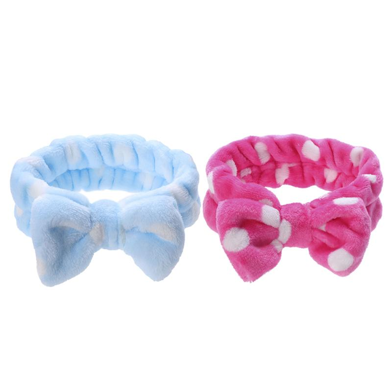 Bath & Shower Useful 2pcs Makeup Headbands With Soft And Cute Big Bow For Women And Girls Shower Spa And Make Up Moderate Price