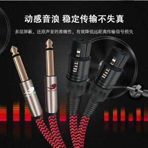 """Image 4 - Audio Kabel TRS 1/4 """"Jack 2 6,5mm zu 2 XLR FEMALE 3 Pin für Verstärker Mixer Konsole Dual XLR auf Dual 6,35mm Kabel 1 mt 2 mt 3 mt 5 mt"""