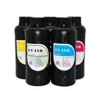LED UV INK For UV Flatbed Printer for Epson UV Printing Machine Curable Ink for Epson DX5 DX7 Printer head