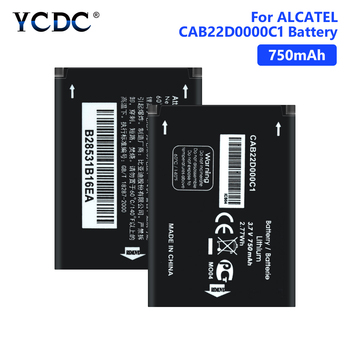 CAB22D0000C1 Battery For ALCATEL One Touch OT-2010 2010D 2010A 356 665X 750mAh Real capacity Internal Phone Bateria image
