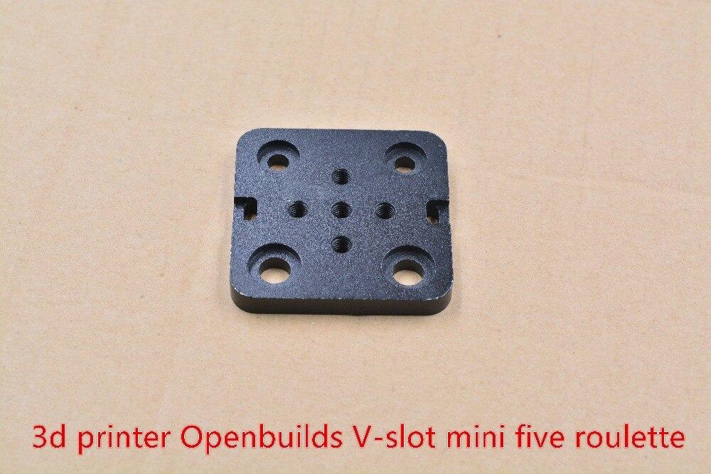 3D Printer part Openbuilds special slide plate for aluminum profiles V slot mini five roulette Openbuilds