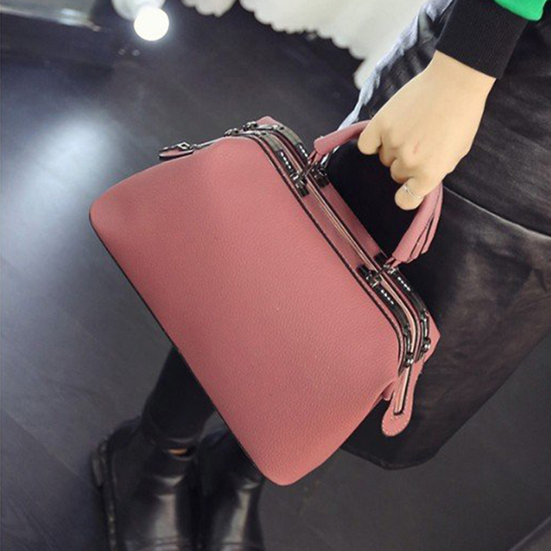 MENGXILU Fashion Female Shoulder Bag Bowling PU Leather Women Handbags Vintage Messenger Bag Crossbody Bags Ladies Solid Design fashion hot simple design women shoulder bag vintage handbag quality pu leather messenger bag female retro handbags wholesale