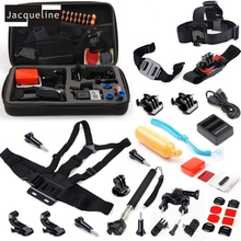 JACQUELINE for Sport Accessories Bundle Kit Charger Head Chest for GoPro Hero4 Black/Silver Hero 5 4 Go Pro Outdoor