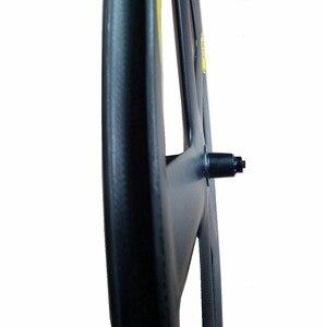Image 4 - 700C Volle Carbon 5 Speichen Klammer/Rohr Räder Fünf speichen carbon laufradsatz für Track/Rennrad UD /3K matte finish