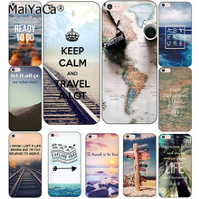 MaiYaCa Travel does the heart Traveling Aircraft Transparent Phone Case Shell For Apple iPhone 8 7 6 6S Plus XS XR X Cover(China)