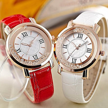Fashion Casual Women Fashion Diamonds Leter Band Analog Quartz Watches
