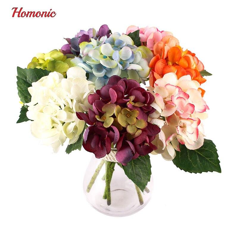 Silk Flower Wedding Bouquets For Sale: DROP SALE Artificial Flowers Artificial Silk Hydrangea