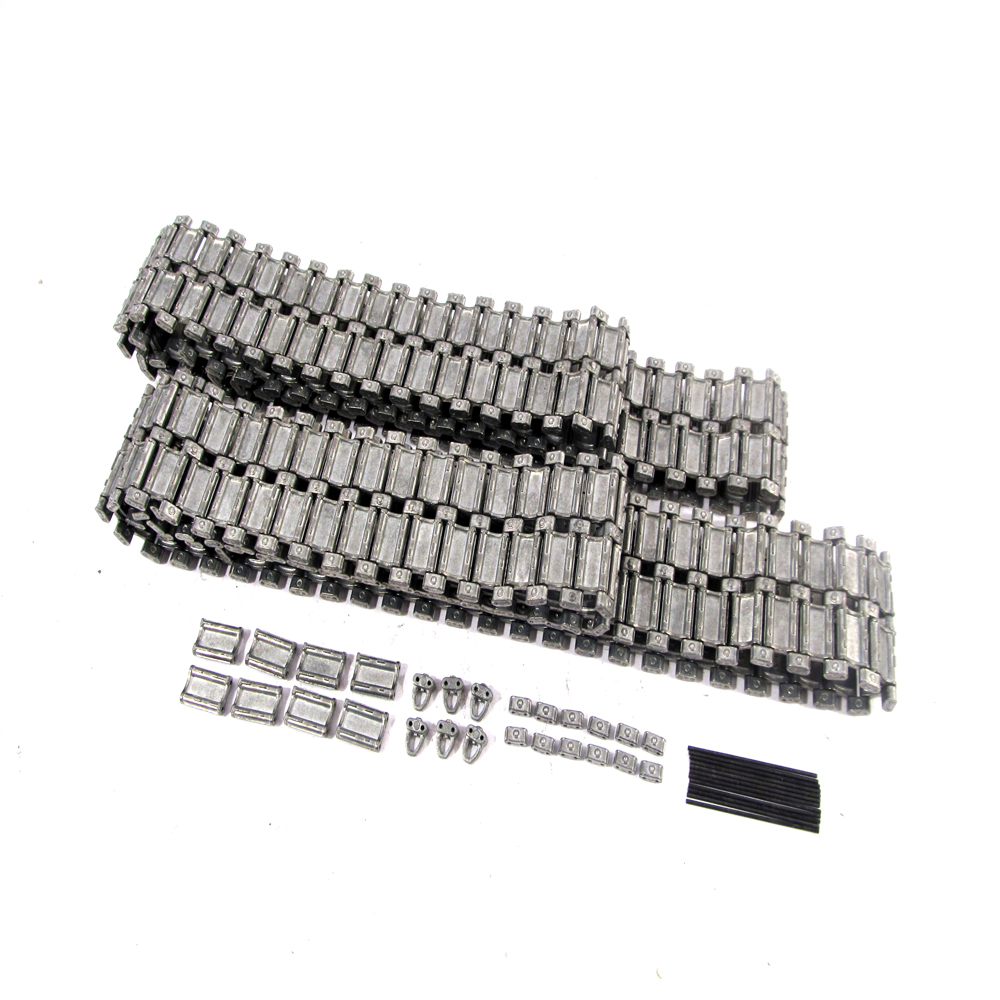 MATO Metal Tracks Closed Pins Military Model Tank Upgrade Parts For Heng Long 3938 RUSSIAN T 90 1 16 1/16 Tank knl hobby heng long russian t 90 1 16 scale 2 4ghz r c main battle tank 3938 1 ultimate metal version metal gear tracks somke