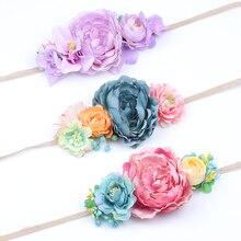 Hemp rope Flower Headband Belt Women Bride Flowers Hairband Bohemian Style Crown Ladies Elastic Hair Accessories