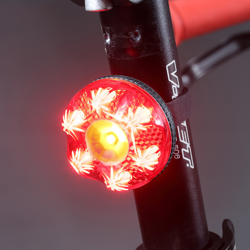 Rechargeable Bright FLASH Bike Bicycle Rear Light LED Lamp Warning Light Red New