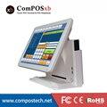 Preço barato 15 polegada TFT LED Sistema PoS Máquina Terminal de Tela de Toque Capacitivo Para Restaurante