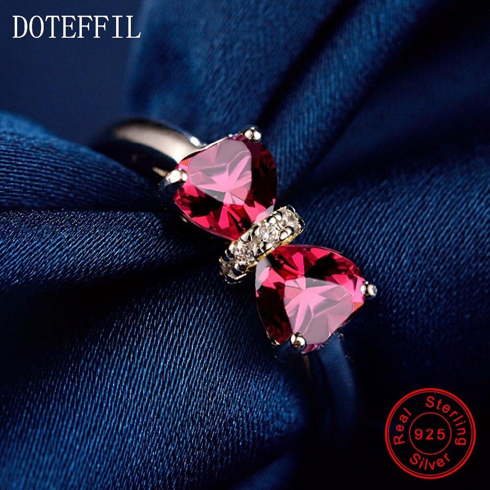 Herz Ring 925 Sterling Silber Frauen Charm Schmuck Ringe Luxusmarke Doppelherz Zirkon Ringe