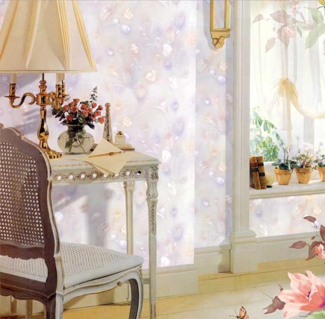 Фотография waterproof Warm European floral PVC wallpaper study bedroom TV setting wall flower monogatari Synchronous embossing technology
