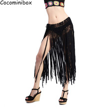 Cocominibox Women's Sexy Tassel Beach Skirt Fringe Crochet Knitted Dance Swimsuit Hollow Out Cover Ups