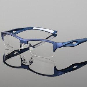Image 2 - الرياضة إطار مشهد جذاب رجالي تصميم مميز مريح TR90 نصف إطار مربع نظارات رياضية إطار eyeglass s1077