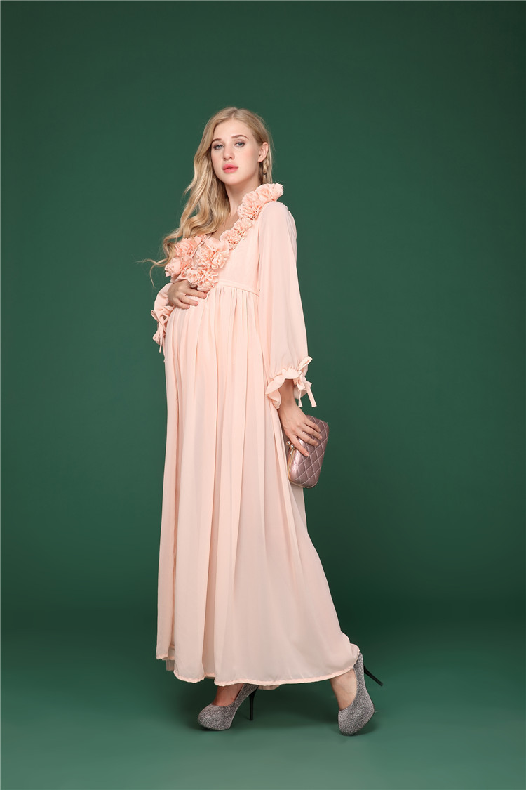 2d7c9b5a82 Maternity Photo Shoot Maxi Dress Nightdress For Pregnant Women Photography  Pregnancy Props Long Dresses Photo Shoot Dress H65 -in Dresses from Mother  & Kids ...