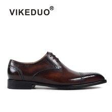 Vikeduo 2017 новые ретро из натуральной кожи модная мужская обувь Высокое качество полые Бизнес платье кружевная обувь для мужчин Menfolks